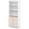 шкаф для документов S-604 дуб верцаска светлый, белые бока