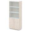 шкаф для документов S-614 дуб верцаска светлый, белый верх и низ
