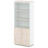 шкаф для документов S-614 дуб верцаска светлый, белые бока