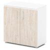 шкаф для документов S-651 дверки дуб верцаска светлый, белый каркас