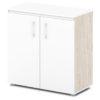 шкаф для документов S-651 бока дуб верцаска светлый, белый