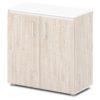 шкаф для документов S-651 дуб верцаска светлый, белый верх и низ