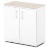 шкаф для документов S-651 белый, дуб верцаска светлый верх и низ