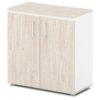 шкаф для документов S-651 дуб верцаска светлый, белые бока