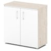 шкаф для документов S-651 белый дверки, каркас дуб верцаска светлый