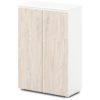 шкаф для документов S-661 дверки дуб верцаска светлый, белый каркас