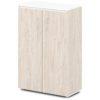 шкаф для документов S-661 дуб верцаска светлый, белый верх и низ