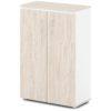 шкаф для документов S-661 дуб верцаска светлый, белые бока