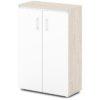 шкаф для документов S-661 белый дверки, каркас дуб верцаска светлый