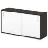 шкаф-купе для документов S-68 каркас дуб честерфилд, белые дверки