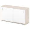 шкаф-купе для документов S-68 каркас дуб верцаска светлый, белые дверки