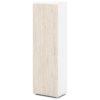 шкаф для одежды S-751 каркас белый, дверки дуб верцаска светлый