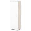 шкаф для одежды S-751 белый, дуб верцаска светлый