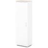 шкаф для одежды S-751 белый, дуб верцаска светлый верх и низ