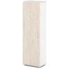 шкаф для одежды S-751 дуб верцаска светлый, белый