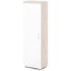 шкаф для одежды S-751 каркас дуб верцаска светлый, белые дверки
