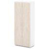 шкаф для одежды S-761 каркас белый, дверки дуб верцаска светлый