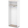 каркас шкафа для одежды S-76 дуб верцаска светлый, белый