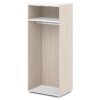 каркас шкафа для одежды S-77 белый и дуб верцаска светлый