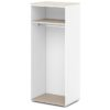каркас шкафа для одежды S-77 дуб верцаска светлый и белый
