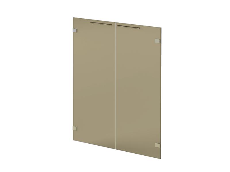 двери низкие стеклянные N-016