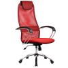 Кресло Metta BK-8 хром красный