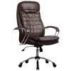 Кресло руководителя Metta LK-3 хром темно-коричневый