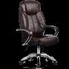 Кресло руководителя Metta LK-12 хром темно-коричневый
