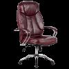 Кресло руководителя Metta LK-12 хром темно-бордовый