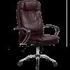 Кресло руководителя Metta LK-11 хром темно-бордовый