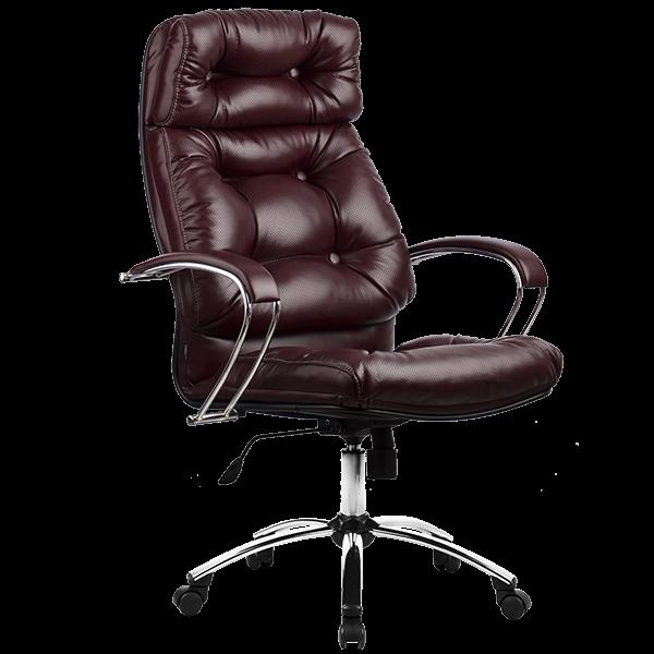 Кресло руководителя Metta LK-14 хром темно-бордовый