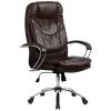 Кресло руководителя Metta LK-11 хром темно-коричневый