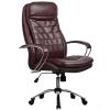 Кресло руководителя Metta LK-3 хром темно-бордовый