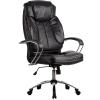 Кресло руководителя Metta LK-12 хром перфорированная эко-кожа черный