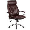 Кресло руководителя Metta LK-13 хром темно-коричневый