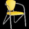 Стул Metta Э-1 металлик иск.кожа DOLLARO ярко-желтый