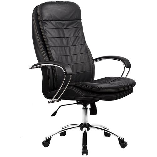 Кресло руководителя Metta LK-3 хром эко-кожа черный-821