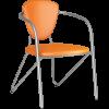 Стул Metta Э-1 металлик иск.кожа DOLLARO оранжевый