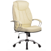 Кресло руководителя Metta LK-12 хром бежевый
