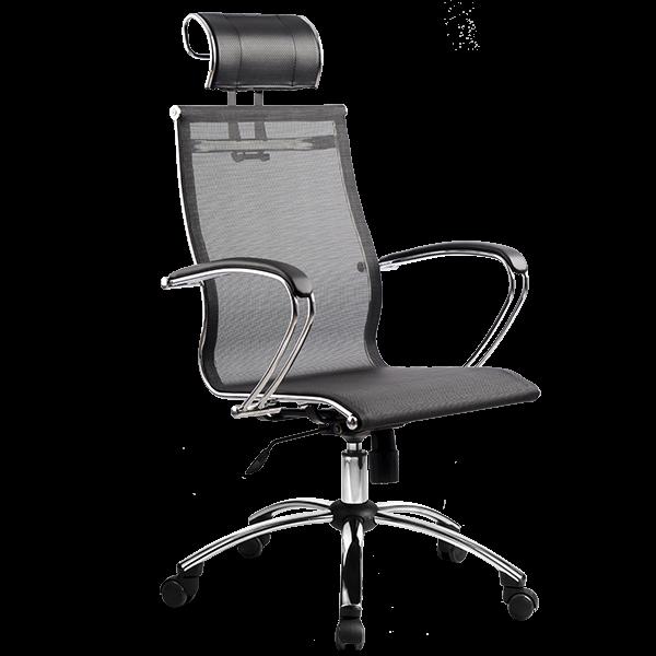 Кресло SkyLine S-2 (C,Ch) с подголовником черный
