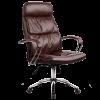 Кресло руководителя Metta LK-15 хром темно-коричневый
