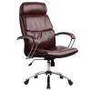 Кресло руководителя Metta LK-15 хром темно-бордовый