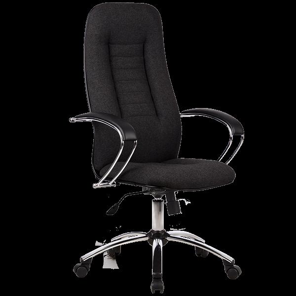 Кресло Metta BK-2 хром ткань серый