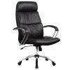 Кресло руководителя Metta LK-15 хром перфорированная эко-кожа черный