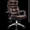 Кресло руководителя Metta LK-14 хром темно-коричневый