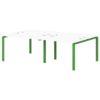 Бенч-система на 4 рабочих места S-141 зеленый лайм