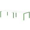 Бенч-система на 4 рабочих места S-143 зеленый лайм