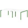 Бенч-система на 4 рабочих места S-147 зеленый лайм