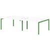 Бенч-система на 4 рабочих места S-148 зеленый лайм