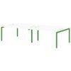 Бенч-система на 4 рабочих места S-149 зеленый лайм